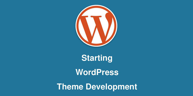 Starting WordPress Theme Development