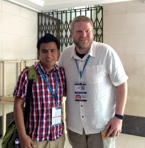Me with Sam at WordCamp Mumbai