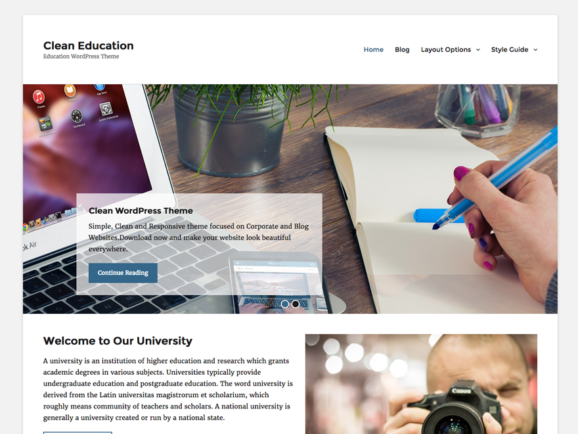 Clean Education Pro - Education WordPress Theme