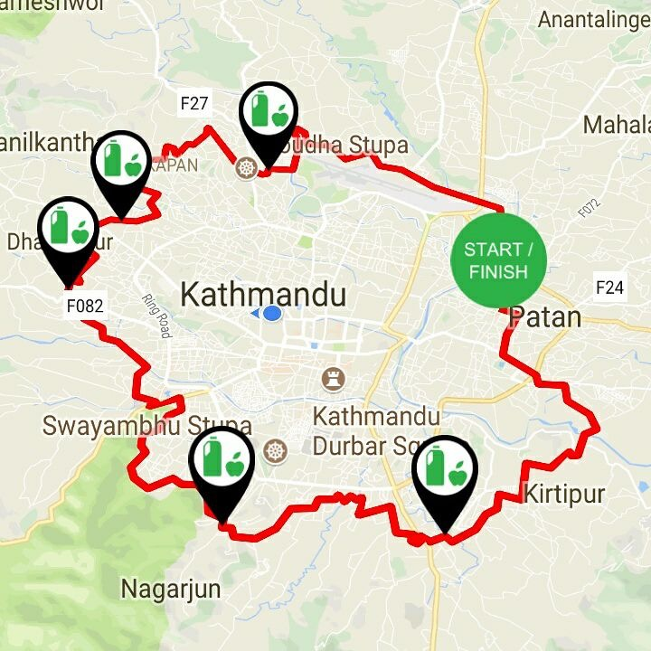Route for 75 K